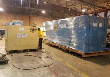 Packaging industrial machines